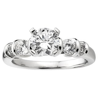 14k White Gold 3/4ct TDW Round Diamond Semi-mount Bridal Set (H-I, I1-I2)