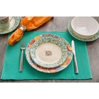 Corelle Impressions Watercolors Stoneware and Glass 16-piece Dinnerware Set