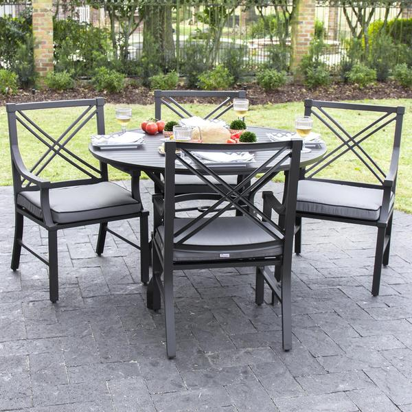 Shop Audubon Aluminum 4 Person Patio Dining Set Free Shipping
