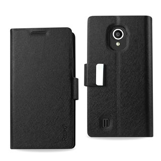 Reiko Black Leather Wallet Flap Pouch Phone Case Cover with Stand For ZTE Source N9511