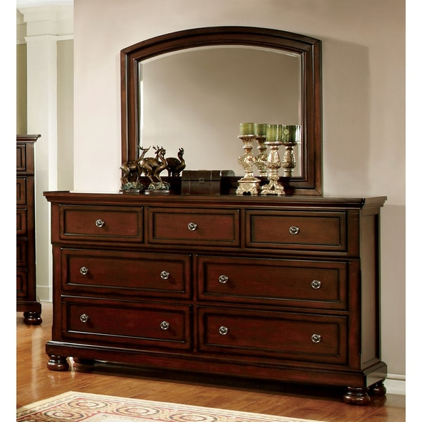Furniture Of America Barelle Cherry 2-Piece Dresser And