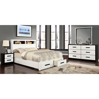 Furniture of America Seleness II Modern 4-piece Duo-Tone Bedroom Set