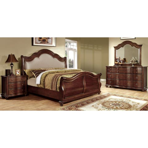 Furniture of America Role Traditional Cherry 4-piece Bedroom Set