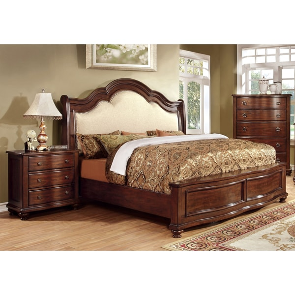 furniture of america ceres i brown cherry 3 piece bedroom