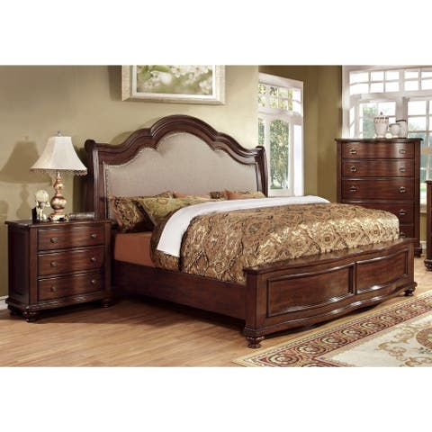 Furniture of America Tole Traditional Cherry 3-piece Bedroom Set
