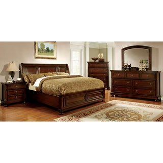 furniture of america barelle ii cherry 4piece bedroom set