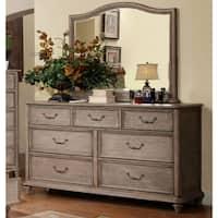 Gracewood Hollow Min Rustic Grey 2-piece Dresser and Mirror Set