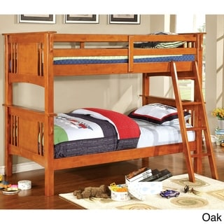Furniture of America Daan Modern Twin Solid Wood Youth Bunk Bed