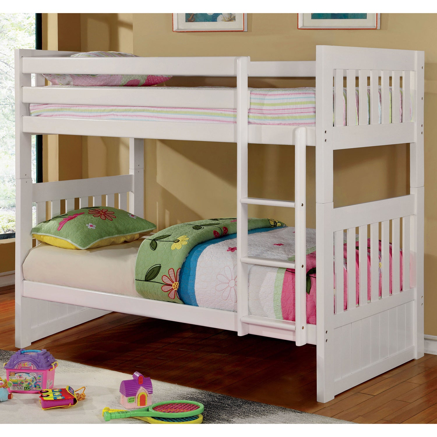 Furniture of America Raline Mission Style White Twin/ Twi...