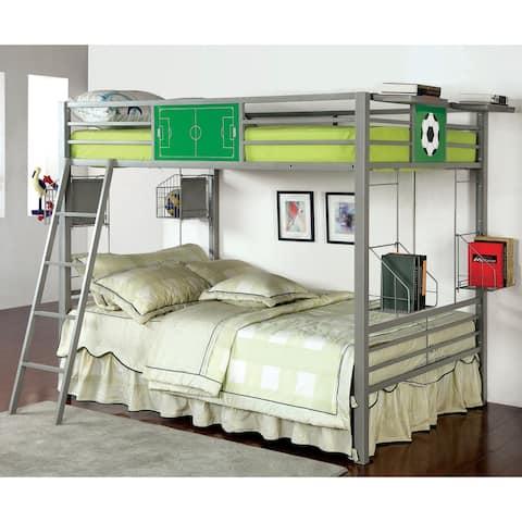 Furniture of America Hamm Modern Full/Full Metal 5-piece Bunk Bed Set