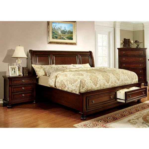 furniture of america barelle i cherry 3 piece bedroom set free