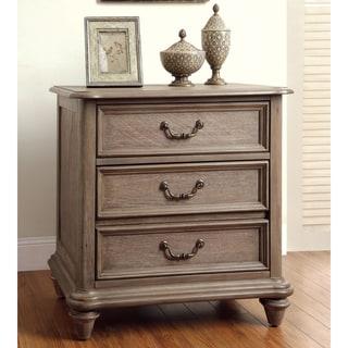 Furniture of America Minka Rustic Grey 2-Drawer Nightstand
