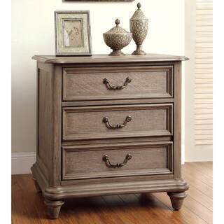 Gracewood Hollow Mercer Rustic Grey 2 Drawer Nightstand