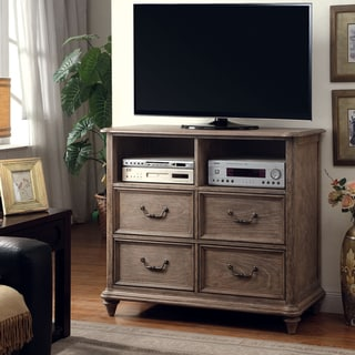 Link to Furniture of America Tury Rustic 46-inch Brown Solid Wood Media Chest Similar Items in Bedroom Furniture