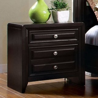 Furniture of America Gant Modern Espresso Solid Wood Nightstand