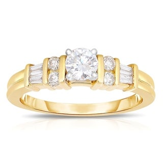 14k Yellow Gold 5/8ct TDW Diamond Engagement Ring (J-K, I1-I2)