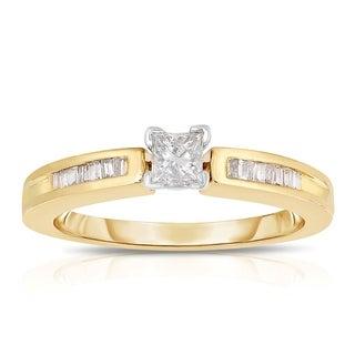 Eloquence 14K Yellow Gold 1/3ct TDW Diamond Engagement Ring (J-K, I1-I2)