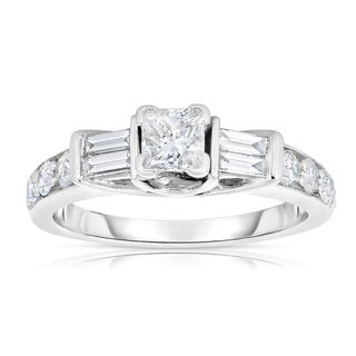 14k White Gold 1ct TDW Diamond Engagement Ring