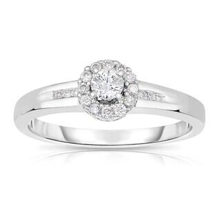 14k White Gold 1/3ct TDW Round Diamond Engagement Ring (H-I, I1-I2)