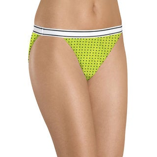 Hanes Women's Cotton String Bikini (Pack of 6, Assorted Colors)