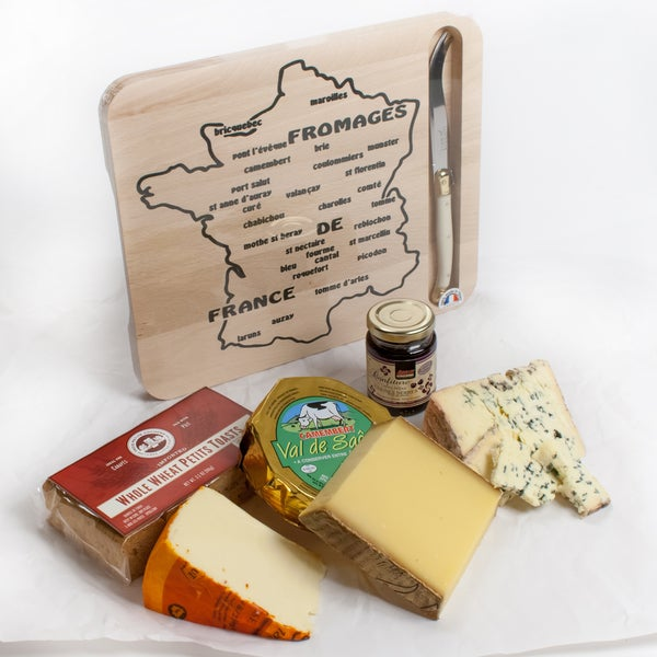 igourmet Great Cheeses of France with Laguiole Cheese Board Gift Set