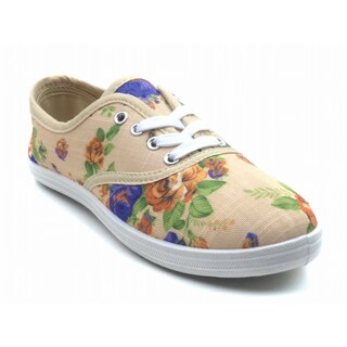"""Blue Womens """"Riley Flower"""" Fabric Sneakers (4 options available)"""