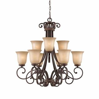 Lumenno Budapest Collection 9-light Bronze Chandelier