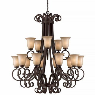 Lumenno Budapest Collection 15-light Bronze Chandelier