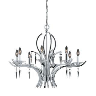 Lumenno Paris Collection 8-light Polished Chrome Chandelier