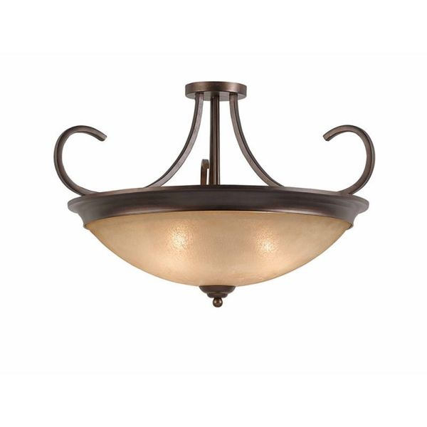 Lumenno Athens Collection Convertible 4-light Bronze Semi Flush Mount/Pendant