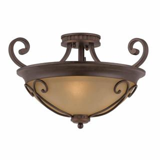 Lumenno Budapest Collection 3-light Bronze Semi Flush Mount