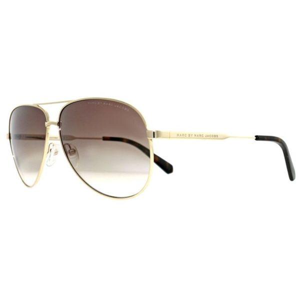 a77e6aca6169b Marc by Marc Jacobs Unisex MMJ 444 J5G 02 Gold Metal Aviator Sunglasses