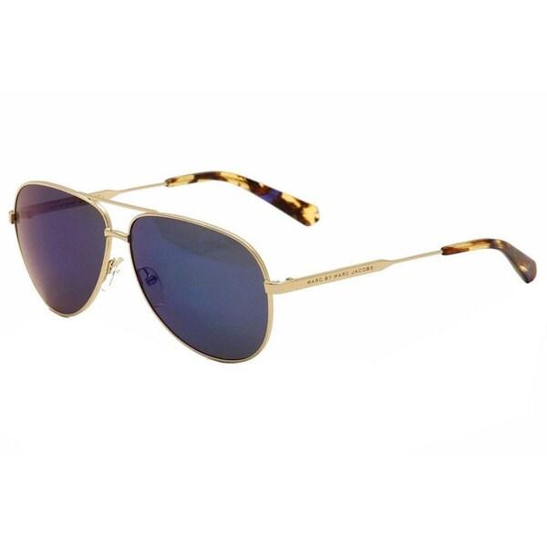 d494e209196e2 Marc by Marc Jacobs Unisex MMJ 444 J5G 1G Gold Metal Aviator Sunglasses