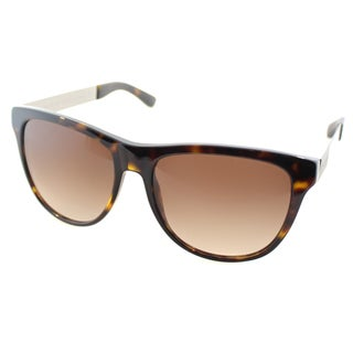 Marc by Marc Jacobs Unisex MMJ 408 6WT Dark Havana Plastic Square Sunglasses