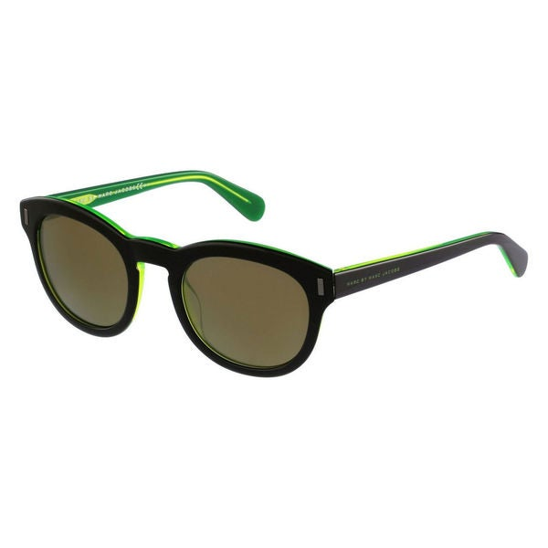 0d7ffe847dc Marc by Marc Jacobs Unisex MMJ 433 7ZJ Black on Green Plastic Rounded  Sunglasses