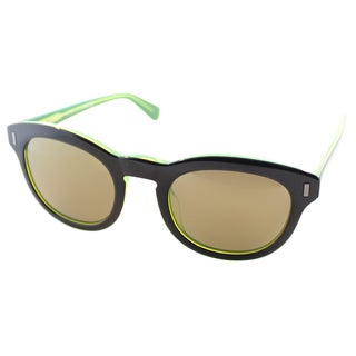 Marc by Marc Jacobs Unisex MMJ 433 7ZJ Black on Green Plastic Rounded Sunglasses