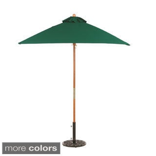 Oxford Garden Square 6-foot Sunbrella Market Umbrella Wood