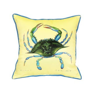 Blue Crab Female 18-inch Indoor/Outdoor Pillow