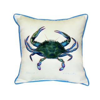 Blue Crab Male 18-inch Indoor/Outdoor Pillow