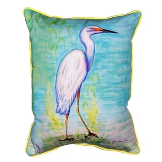Snowy Egret 15x22-inch Indoor/Outdoor Pillow