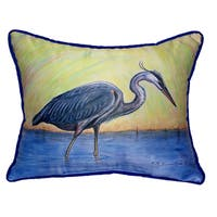 Blue Heron 16x20-inch Indoor/Outdoor Pillow
