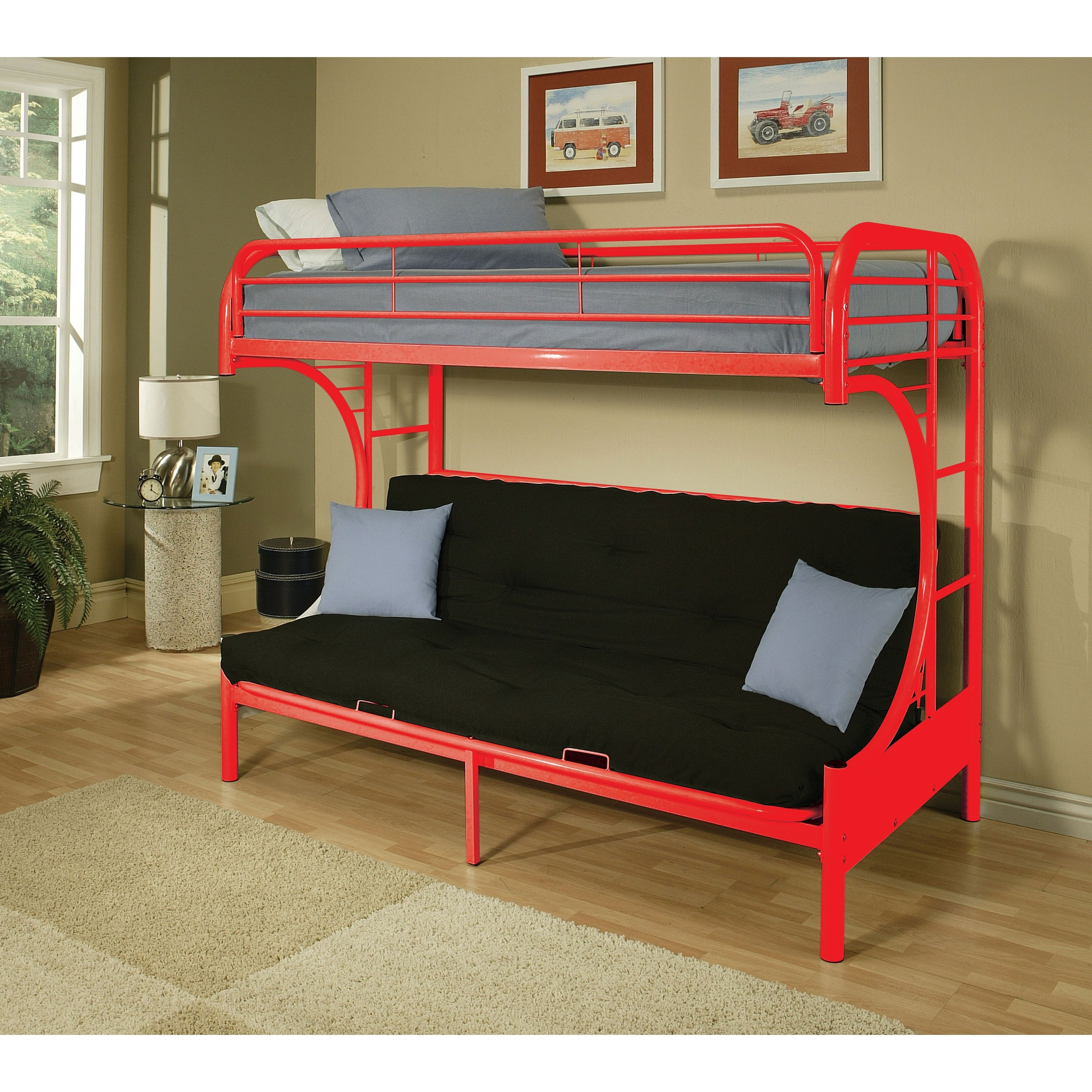 Picture of: Eclipse Twin Full Futon Bunk Bed On Sale Overstock 9979683