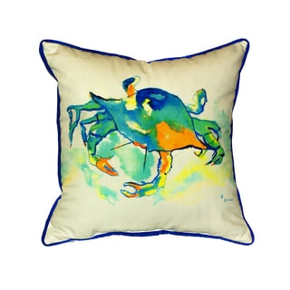 Orange Crab 18-inch Indoor/Outdoor Pillow
