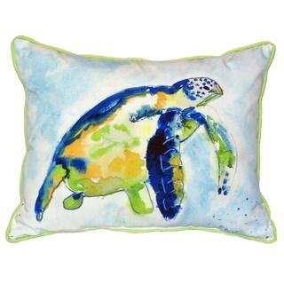 Blue Sea Turtle 16x20-inch Indoor/Outdoor Pillow