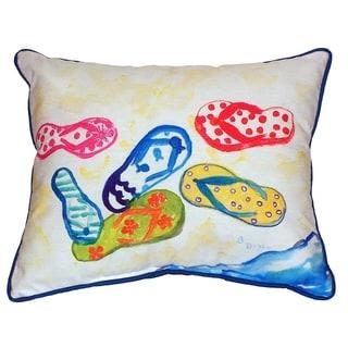 Six Flip Flops 16x20-inch Indoor/Outdoor Pillow
