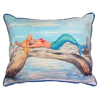 Mermaid On A Log 16x20 inch Indoor/Outdoor Pillow