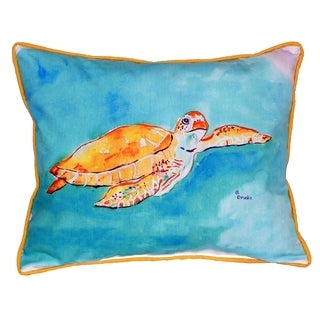 Brown Sea Turtle 16x20-inch Indoor/Outdoor Pillow