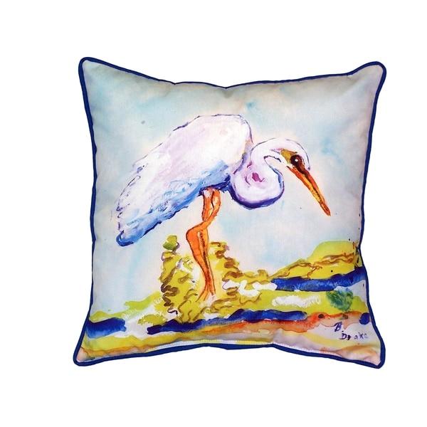 Betsy's Egret 18-inch Indoor/Outdoor Pillow