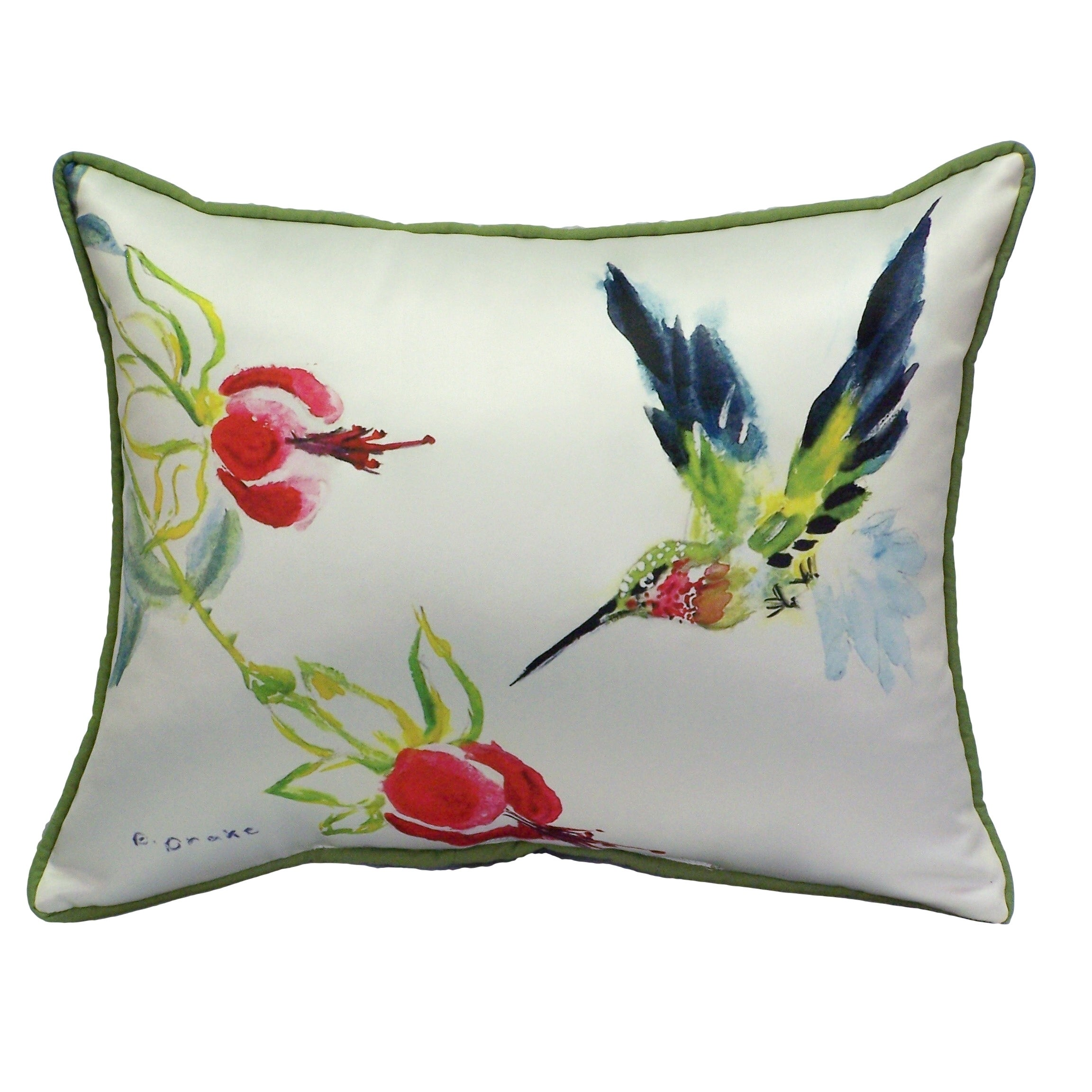Betsy S Hummingbird 16x20 Inch Indoor Outdoor Pillow Overstock 9979754