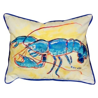 Blue Lobster 16x20-inch Indoor/Outdoor Pillow